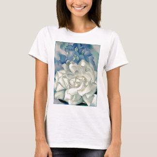 Atemberaubende Georgia O'Keefe weiße Rose und T-Shirt