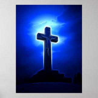 Atemberaubende Jesus-Kreuzigung Poster