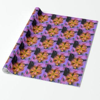 Atemberaubende klare einzigartige lila u. gelbe geschenkpapier