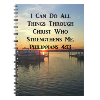ATEMBERAUBENDE PHILIPPIANS-4:13 SCHRIFT NOTIZBLOCK