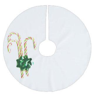Atemberaubende Weihnachtszuckerstangen Polyester Weihnachtsbaumdecke