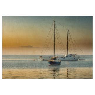 Atemberaubende Yacht und Boot am Jachthafen Holzposter