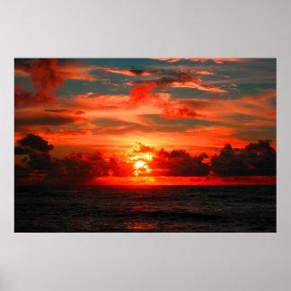 Atemberaubender hawaiischer tropischer poster