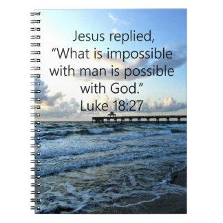 ATEMBERAUBENDER LUKE-18:27 OZEAN-FOTO-ENTWURF SPIRAL NOTIZBLOCK