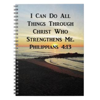 ATEMBERAUBENDER PHILIPPIANS-4:13 SCHRIFTS-VERS SPIRAL NOTIZBLOCK