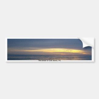 Atemberaubender Sonnenuntergang in Eichen-Insel Autoaufkleber