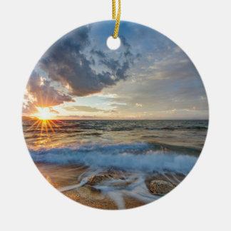 Atemberaubender Sonnenuntergang Keramik Ornament