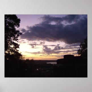 Atemberaubender Sonnenuntergang Poster