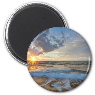 Atemberaubender Sonnenuntergang Runder Magnet 5,7 Cm