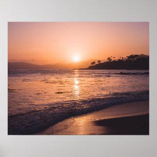 Atemberaubender Strand-Sonnenuntergang Poster
