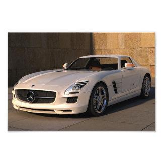 Atemberaubendes Mercedes-Sportauto Photodruck