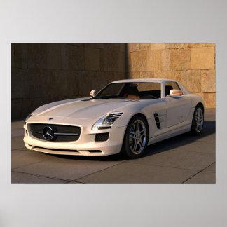Atemberaubendes Mercedes-Sportauto Poster