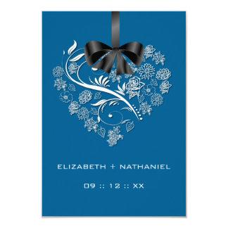Atemlose Herz UAWG Karte - elektrisches Blau 8,9 X 12,7 Cm Einladungskarte