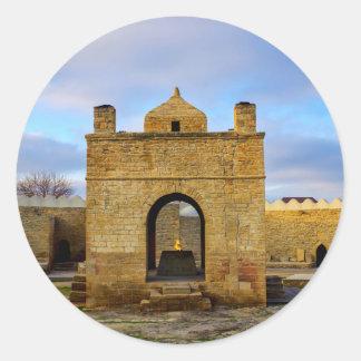 Ateshgah von Baku Runder Aufkleber