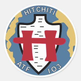 ATF-103 USS Hitchiti Militär bessert aus Runder Aufkleber