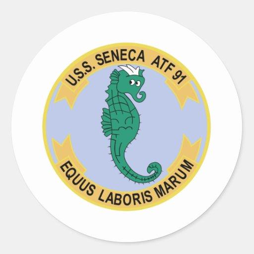 ATF-91 USS Seneca-Militär bessert aus Runde Sticker