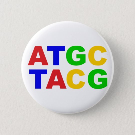 ATGC Nukleinbasen nucleobases Runder Button 5,7 Cm