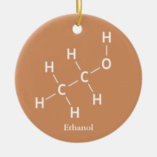 Äthanol-Äthylalkohol-Molekül-Chemie Keramik Ornament