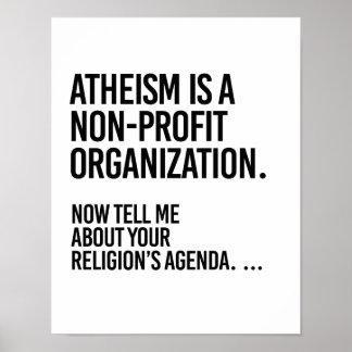 Atheismus ist eine gemeinnützige Organisation - - Poster