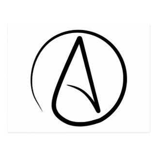 Atheismus-Symbol Postkarte