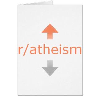 Atheismus Upvote Karte