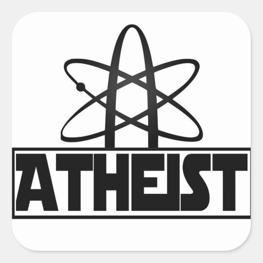 Atheismus Zeichen Quadratischer Aufkleber