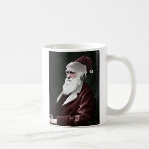 Atheist - Darwin-Weihnachten als Weihnachtsmann Haferl