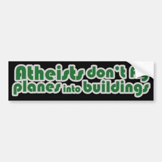 Atheist fliegen Flugzeuge nicht in Gebäude Autoaufkleber