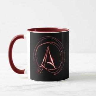 Atheist im Rot Tasse