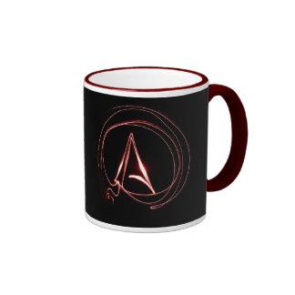 Atheist im Rot Kaffeehaferl