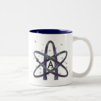 Atheist in der Weltraum-Tasse