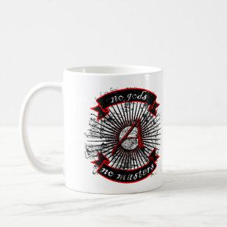 Atheist keine Götter, keine Meister Tasse