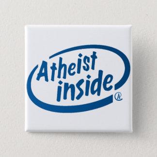 Atheist nach innen quadratischer button 5,1 cm
