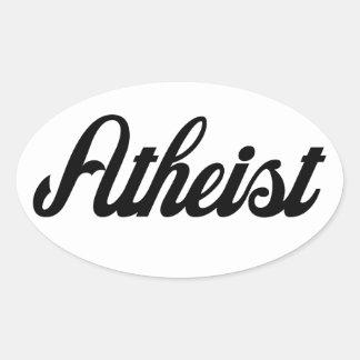 Atheist Ovaler Aufkleber