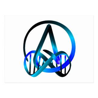 Atheisten-für immer Blau Postkarte