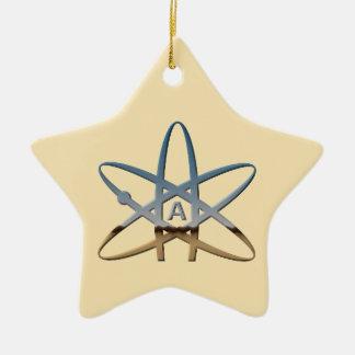 Atheistische Atom-Stern-Verzierung Keramik Ornament