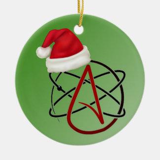atheistische Baumverzierung Rundes Keramik Ornament