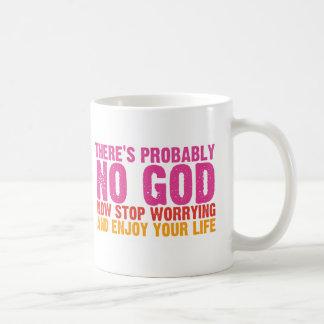 Atheistische Bus-Kampagne vertikal Teetasse