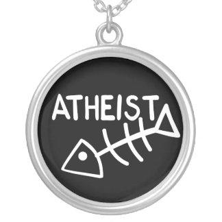 Atheistische Fische Halskette Mit Rundem Anhänger