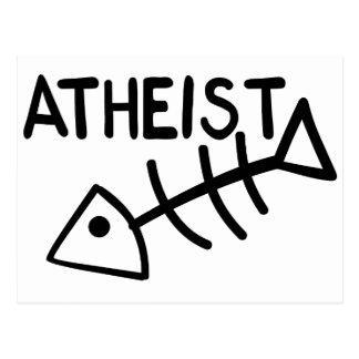 Atheistische Fische Postkarte