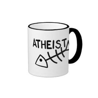 Atheistische Fische Ringer Tasse