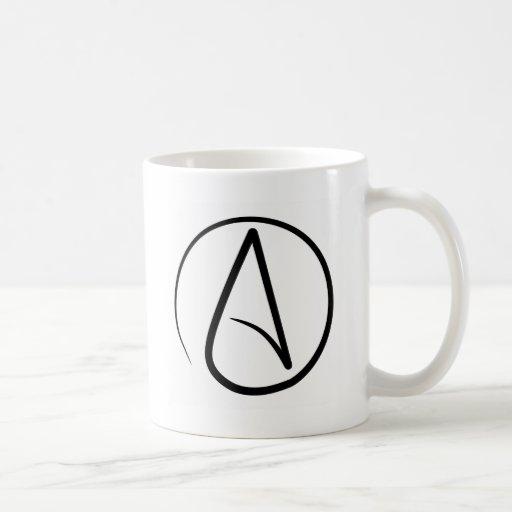 Atheistische Symbol-Kaffee-Tasse