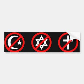 Atheistischer Autoaufkleber
