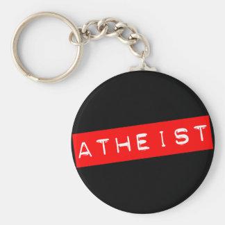 Atheistischer Dymo Aufkleber Schlüsselanhänger