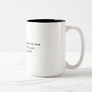 Atheistischer Kaffee: Keine Moral Zweifarbige Tasse