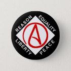 Atheistischer Logoknopf Runder Button 5,1 Cm