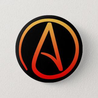 Atheistischer Symbol-Knopf Runder Button 5,7 Cm