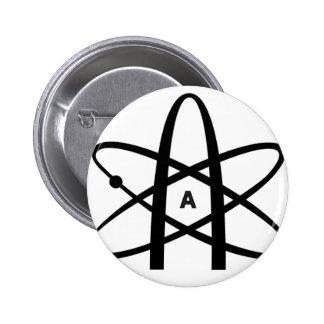 Atheistisches Atom Runder Button 5,7 Cm