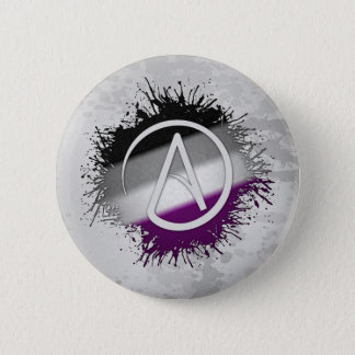Atheistisches Symbol asexual Runder Button 5,7 Cm
