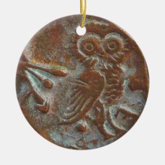 Athen-Eule Keramik Ornament